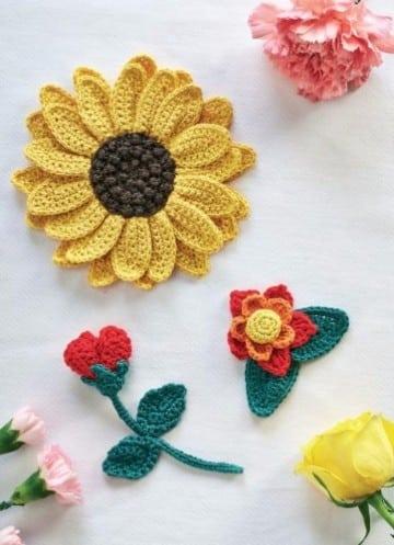 tejido crochet flores paso paso bebe