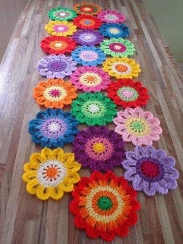 tejido crochet flores paso paso en espanol