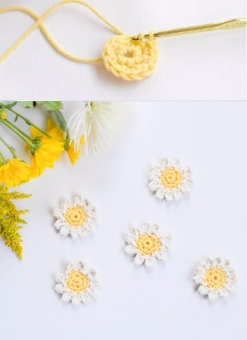 tejido crochet flores paso paso para principiantes