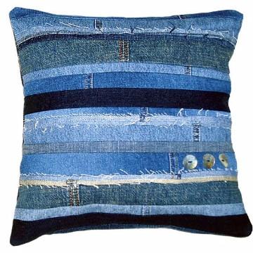 almohadones reciclados jeans