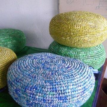 almohadones reciclados rellenos