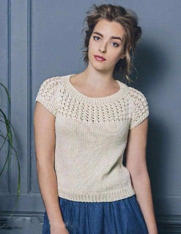 blusas tejidas de moda para dama