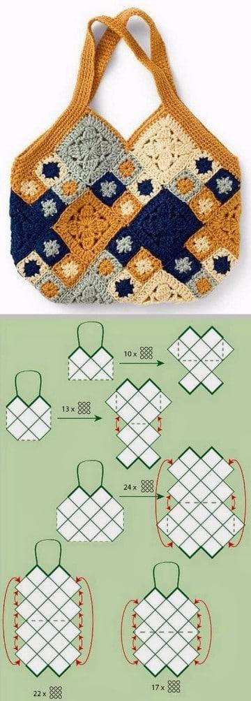 bolso a crochet patron paso a paso patrones