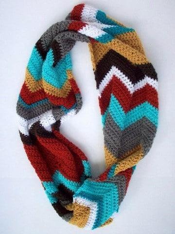 bufandas de gancho modernas circular