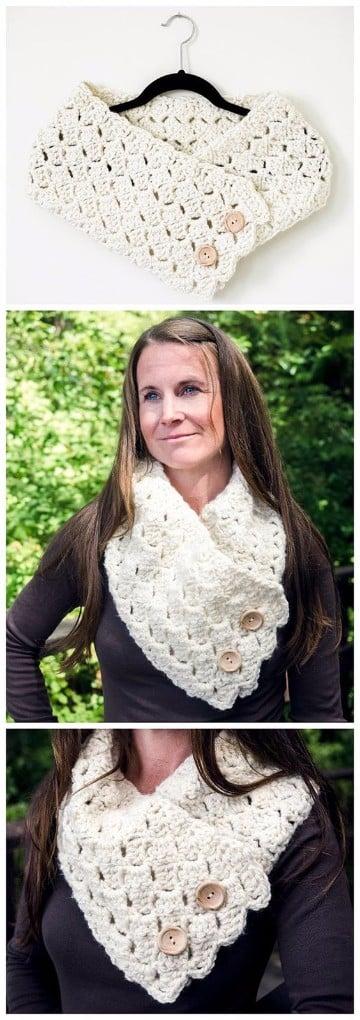 bufandas de gancho modernas como hacer