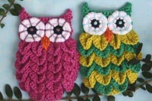 Buhos tejidos a crochet paso a paso fáciles de hacer