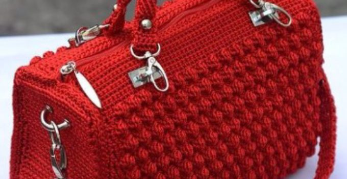 Como hacer carteras a crochet paso a paso tejidos a - Como hacer bolsos tejidos ...