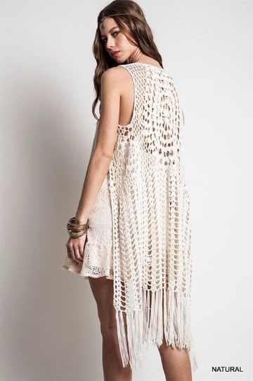 chalecos de ganchillo para mujer crochet