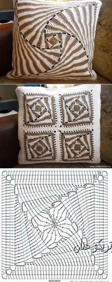 cojines a crochet paso a paso ganchillo