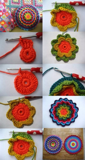 cojines a crochet paso a paso redondos