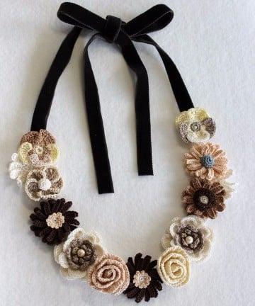 collares de crochet paso a paso flores
