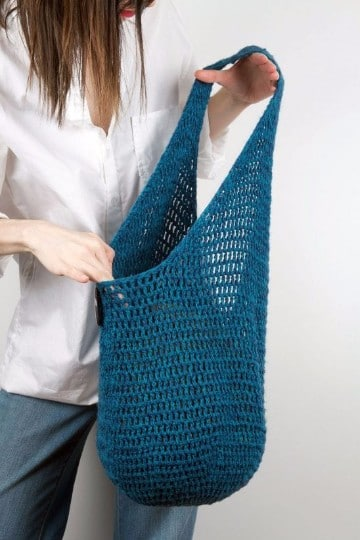 como hacer bolsas de tejido a mano
