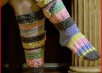 Como hacer calcetines de punto crochet con diseños