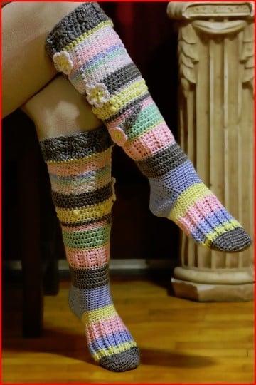como hacer calcetines de punto con dos agujas