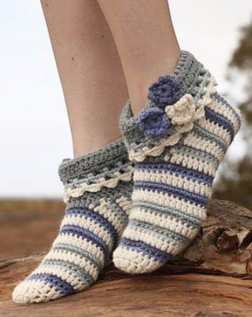 como hacer calcetines de punto cuatro agujas