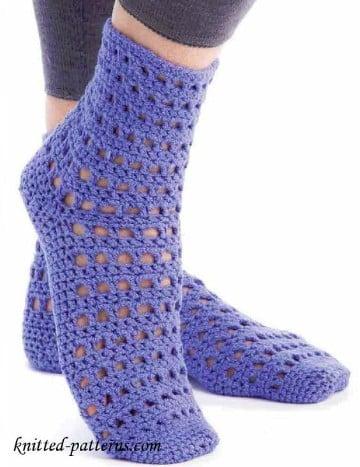 como hacer calcetines de punto faciles