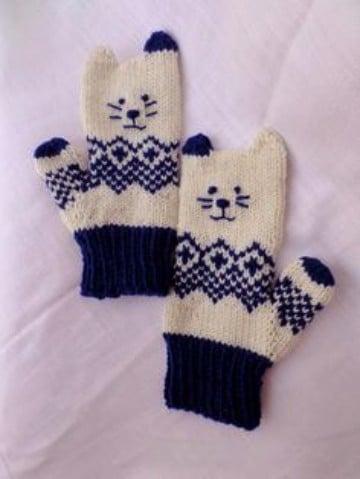 como hacer mitones de lana patrones