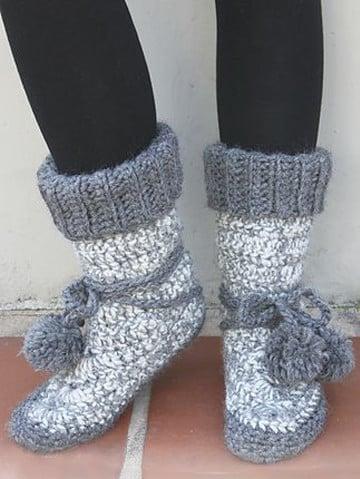como tejer botas a crochet para adultos