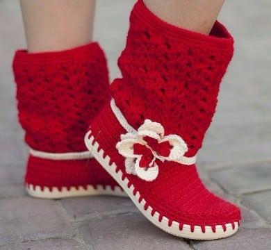 como tejer botas a crochet para dama