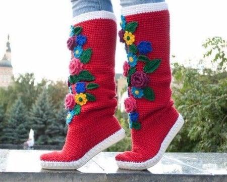 como tejer botas a crochet paso a paso