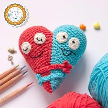 corazon a crochet patron 3d