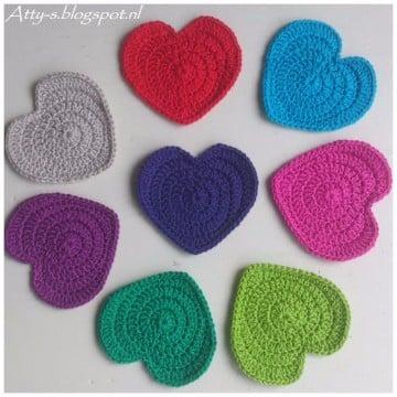 corazon a crochet patron para llaveros