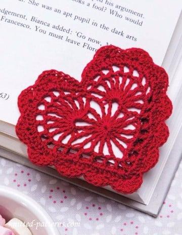 corazon a crochet patron para tejer