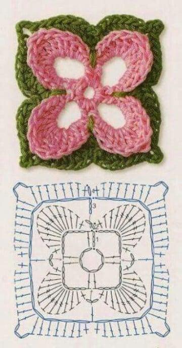 flores a crochet con patrones para imprimir