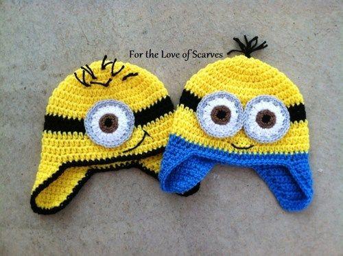 gorro tejido minions a crochet