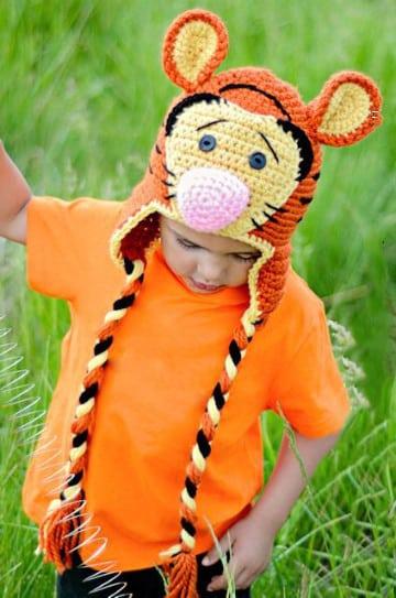 gorros a crochet de animalitos figuras