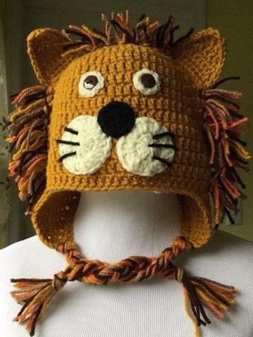 gorros a crochet de animalitos patrones