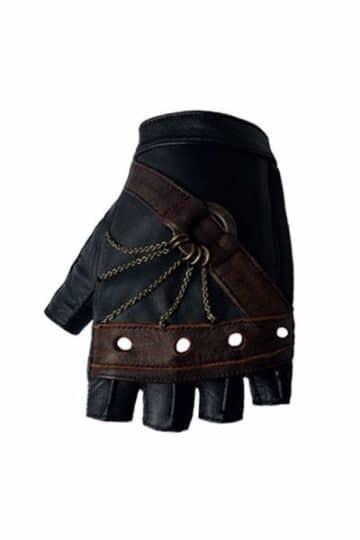 guantes sin dedos de cuero para hombre