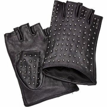 guantes sin dedos de cuero para trabajo