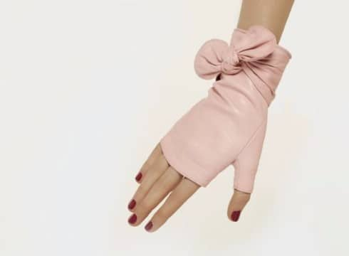 guantes sin dedos de cuero piel