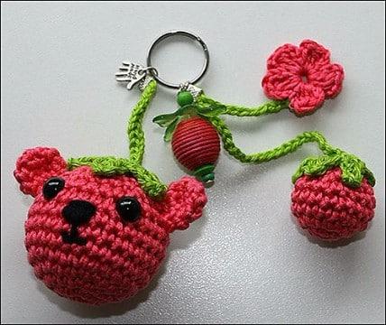 llaveros a crochet paso a paso tejidos