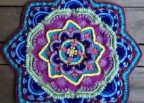 Mandalas tejidas al crochet con patrones y puntos