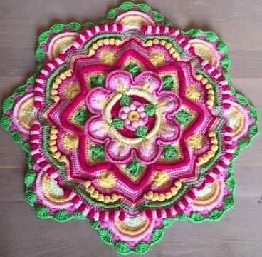 mandala tejidas al crochet diagramas