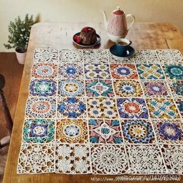 manteles de crochet cuadrados rectangular