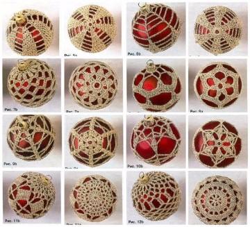 manualidades a crochet para navidad adornos