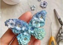 Hermosas mariposas tejidas al crochet con tutoriales
