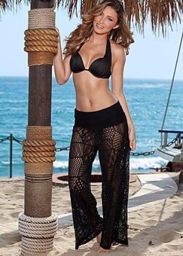 pantalones tejidos a crochet para dama