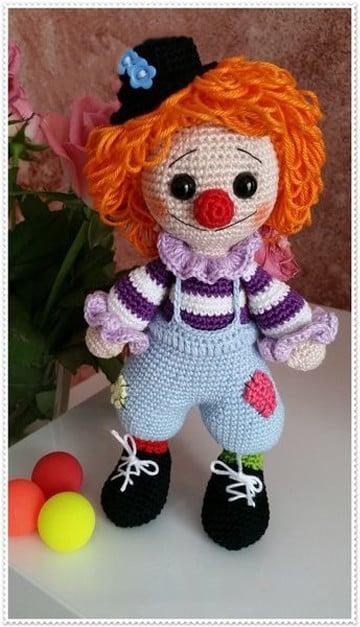 payasos tejidos a crochet original