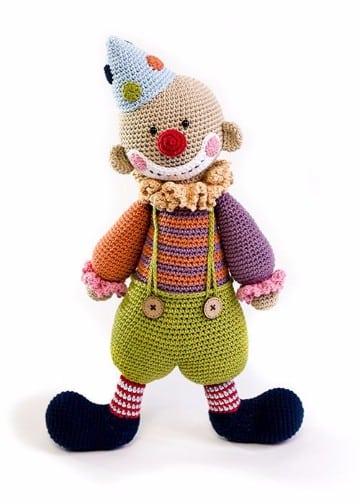 payasos tejidos a crochet para bebes