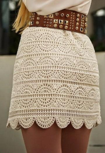polleras tejidas al crochet cortas