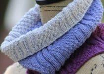 Guia de como tejer puntos dos agujas para bufandas con diseño