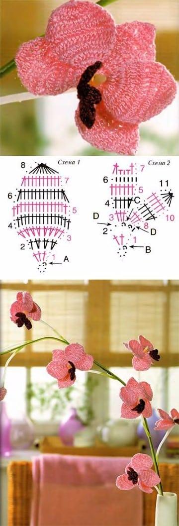 rosas tejidas a crochet paso a paso pequenas