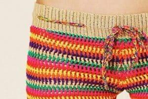 Tutorial sencillo de shorts tejidos al crochet