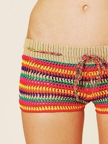 shorts tejidos al crochet para dama
