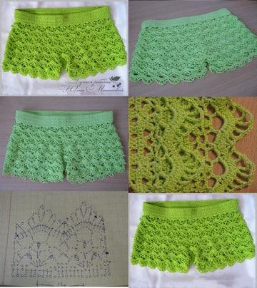 shorts tejidos al crochet patrones