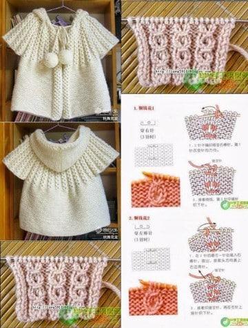 sweaters tejidos a mano para nina